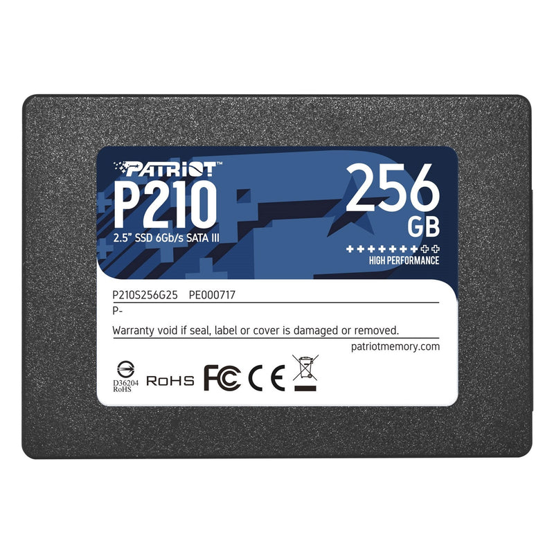 "Patriot P210 256GB 2.5"" SATA III Solid State Drive (SSD) Front - Peach Stores"