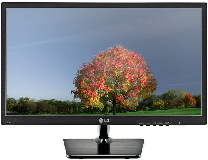 "LG 22M37A 21.5"" TN LED Full HD VGA Monitor Front Tree - Peach Stores"