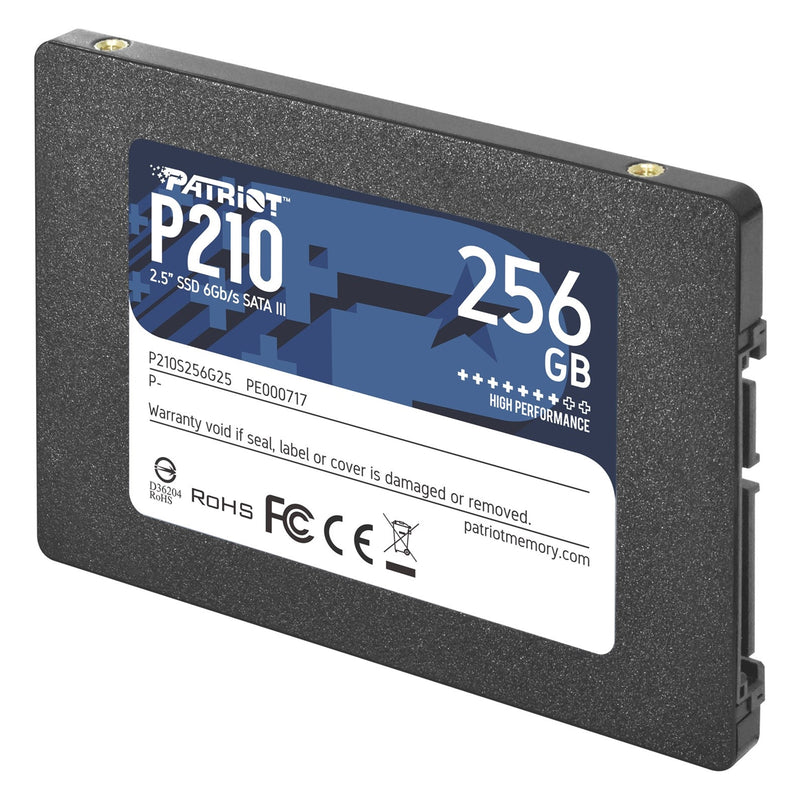 "Patriot P210 256GB 2.5"" SATA III Solid State Drive (SSD) Right - Peach Stores"