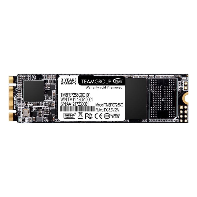 Team MS30 256GB M.2 2280 SATA III Solid State Drive (SSD) Front - Peach Stores