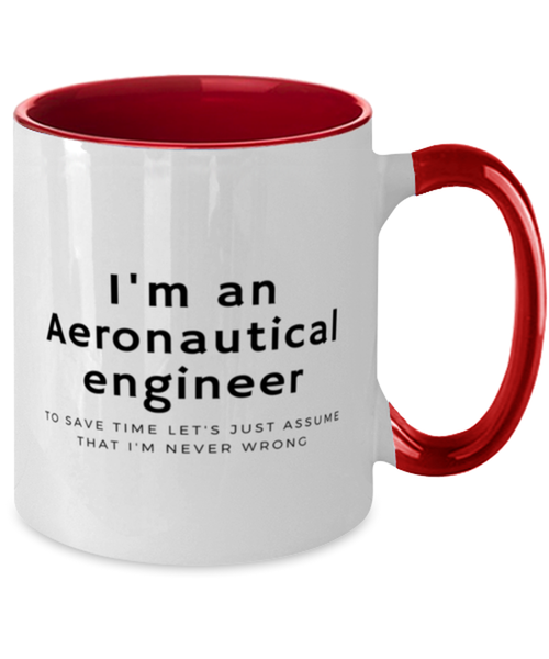 I'm an Aeronautical Engineer Two Tone Red and White Coffee Mug