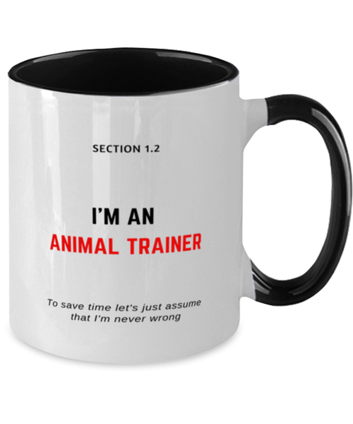 I'm an Animal Trainer Two Tone Black and White Coffee Mug