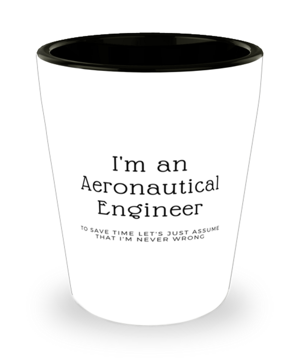 I'm an Aeronautical Engineer Shot Glass