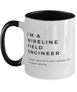 I'm a Wireline Field Engineer Two Tone Black and White Coffee Mug