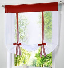 Load image into Gallery viewer, Perdea scurta, transparentă, modernă. ModernShortWindowKitchen Tulle VoileCurtain for Living Room Divider