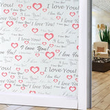 Sticker cu efect de fereastra înghețată dimensiune 45x100 cm .45X100cm Frosted window glass sticker light opaque bathroom sliding door blackout window film decoration personality creative