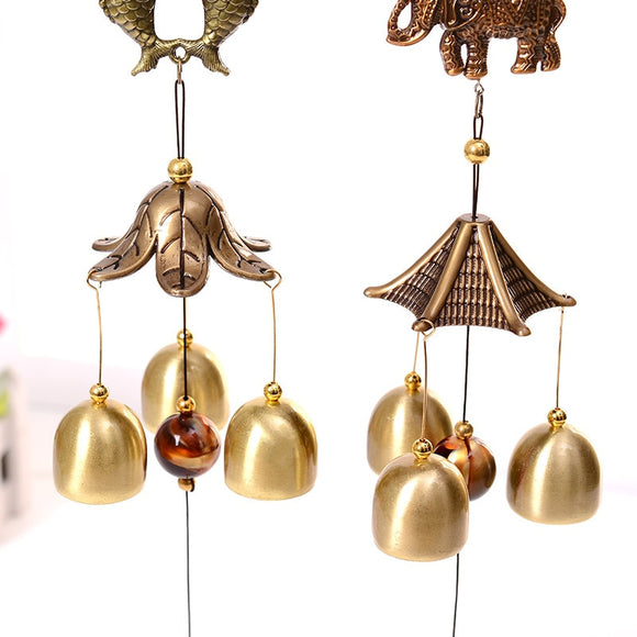 Clopotei de vânt - Antique Wind Chime Copper Yard Garden Outdoor Living Decoration Metal Wind Chimes Outdoor Chinese Oriental Lucky Metal Wind Bell