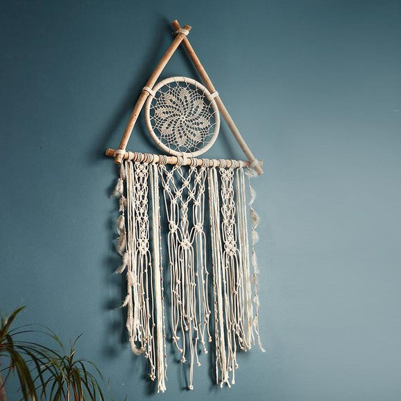 nordic macrame dreamcatcher tapestry room decoration farmhouse decor handmade makramee dreamcatcher  gift for women