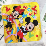 Disney children's small square embroidery Mary cat cartoon Stitch small towel cotton face towel soft absorbent bathroom towels