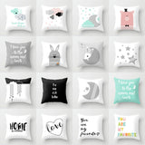 Retro Linen cotton Baby  Home Decor pillow cases