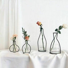 Load image into Gallery viewer, Minimalist Vase Flower Rack Nordic Abstract Black Lines Iron Decor Life Home Decor Black Lines Flowerpot Plants Flower Vase