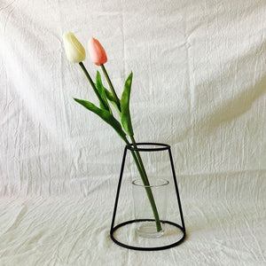 Minimalist Vase Flower Rack Nordic Abstract Black Lines Iron Decor Life Home Decor Black Lines Flowerpot Plants Flower Vase