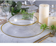 Load image into Gallery viewer, Set farfurii&bol din sticla INS Nordic Western Glass Dinner Plates Tableware Transparent Salad Fruit Plate Creative Dishes and Plates Sets