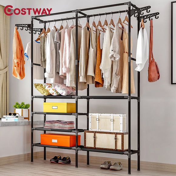Suport depozitare și/sau uscare COSTWAY Clothes Hanger Coat Rack Floor Hanger Storage Wardrobe Clothing Drying Racks porte manteau kledingrek perchero de pie