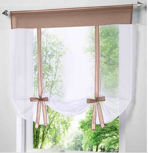 Perdea scurta, transparentă, modernă. ModernShortWindowKitchen Tulle VoileCurtain for Living Room Divider