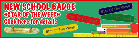Star of the week badge for students