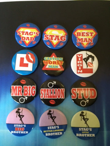 Stag do Party Badge Pack