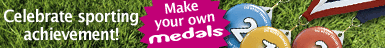 Make medals with your badge machine