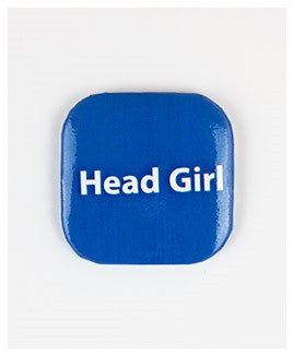32mm Square Button Badge - Head Girl
