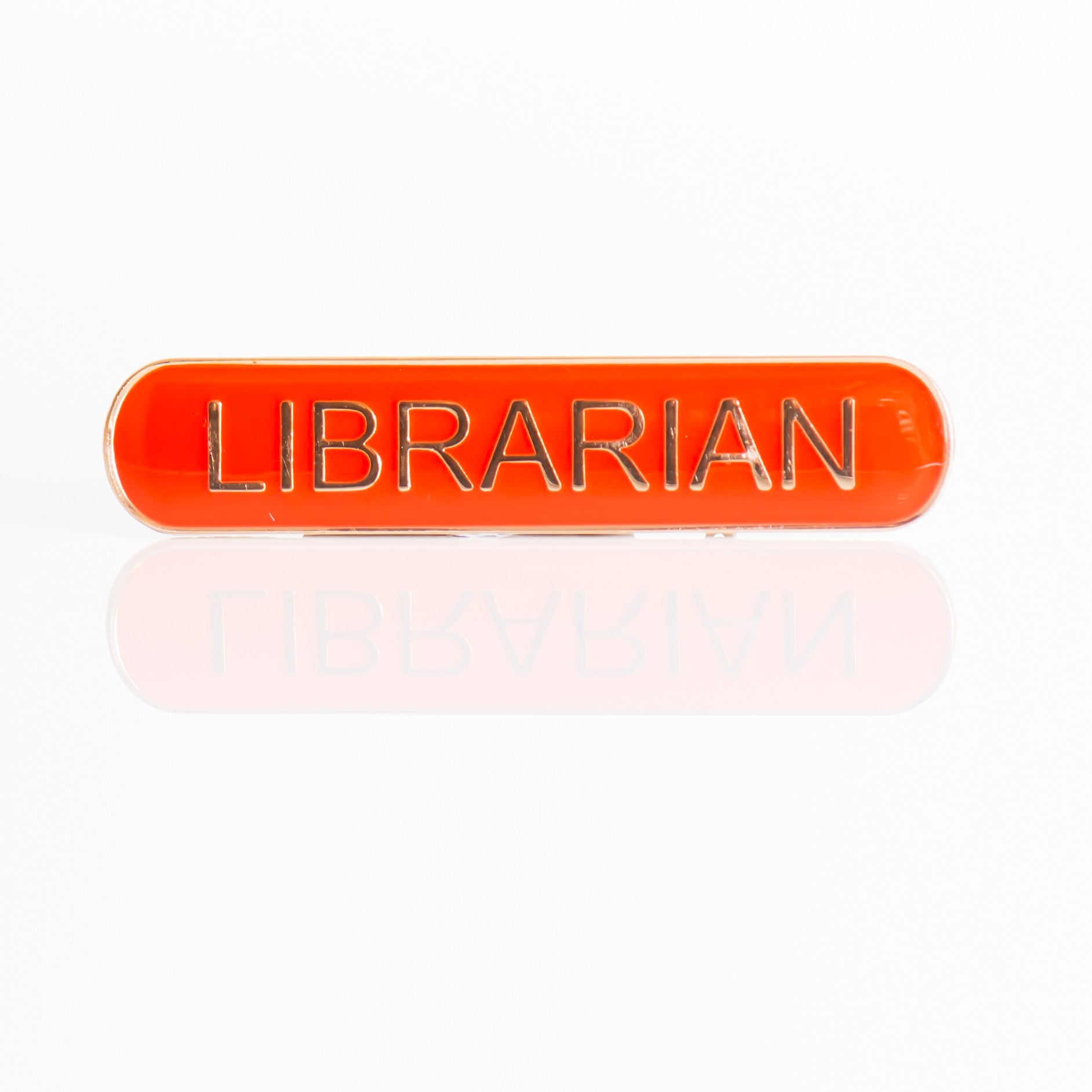 Enamel Bar Pin Badge - Librarian
