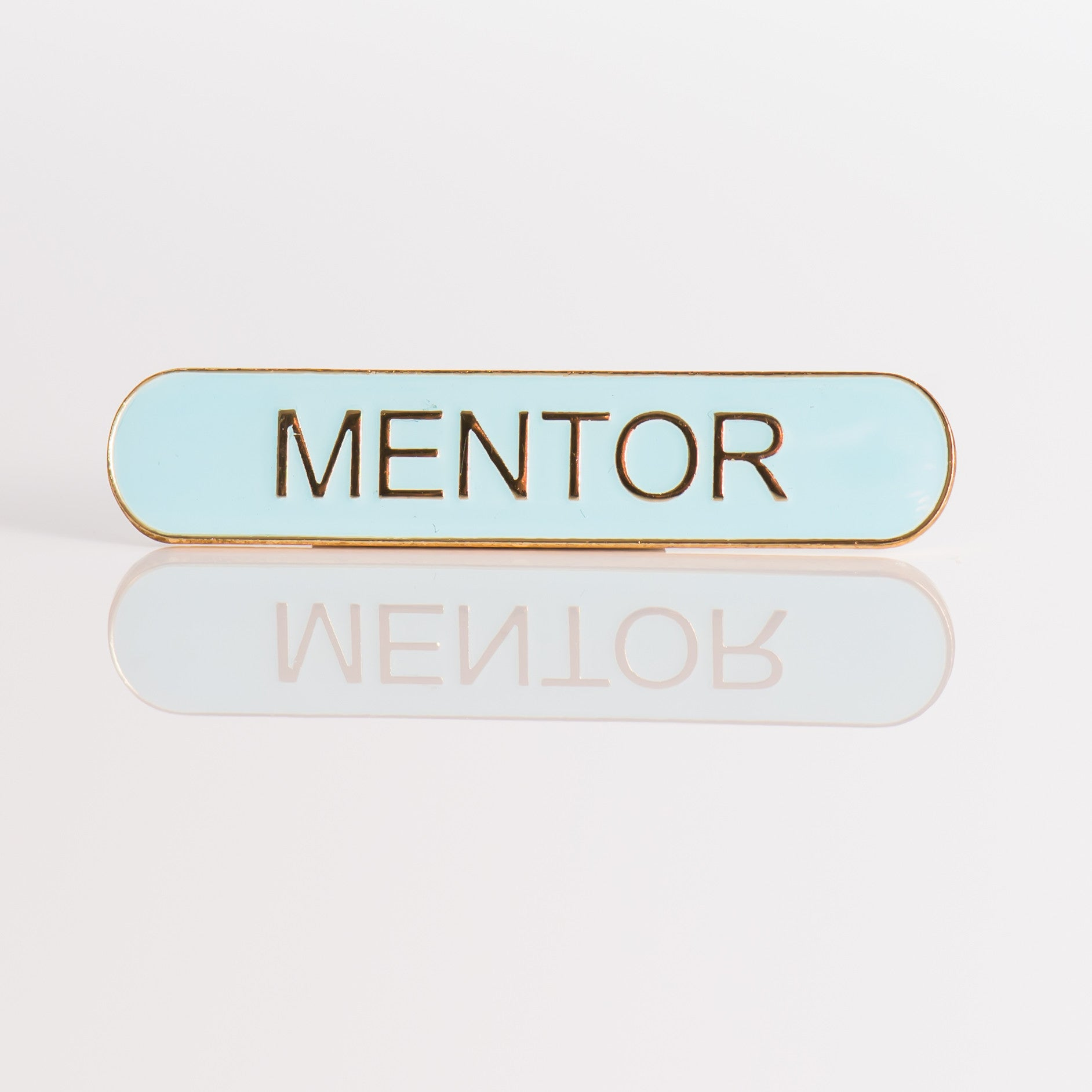 Enamel Bar Pin Badge - Mentor