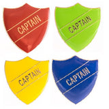 Enamel Shield Pin Badge - Captain