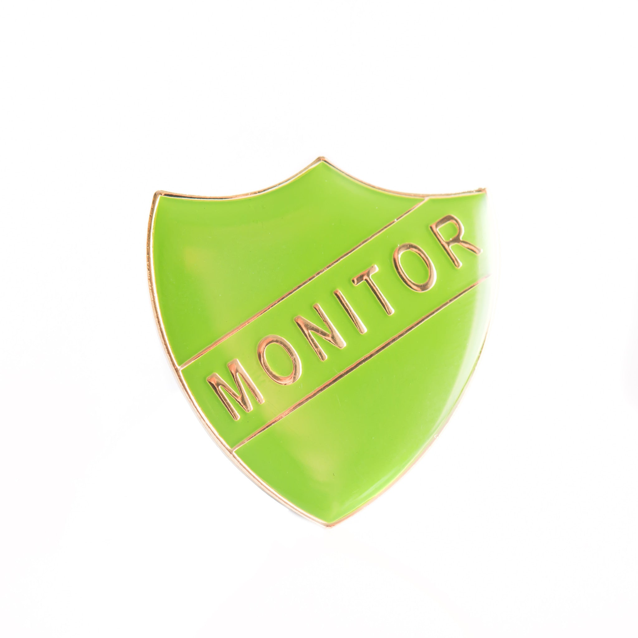 Enamel Shield Pin Badge - Monitor