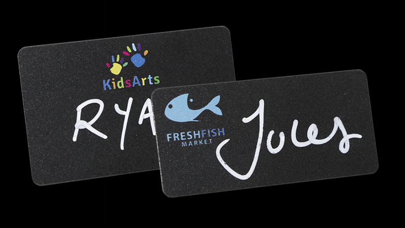 Reusable Name Badges - Blackboard