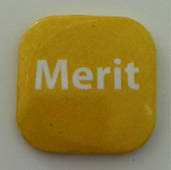 32mm Square Button Badge - Merit