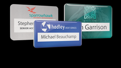 Reusable Name Badges - PVC Faced Window