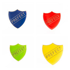 Enamel Shield Pin Badge - Prefect