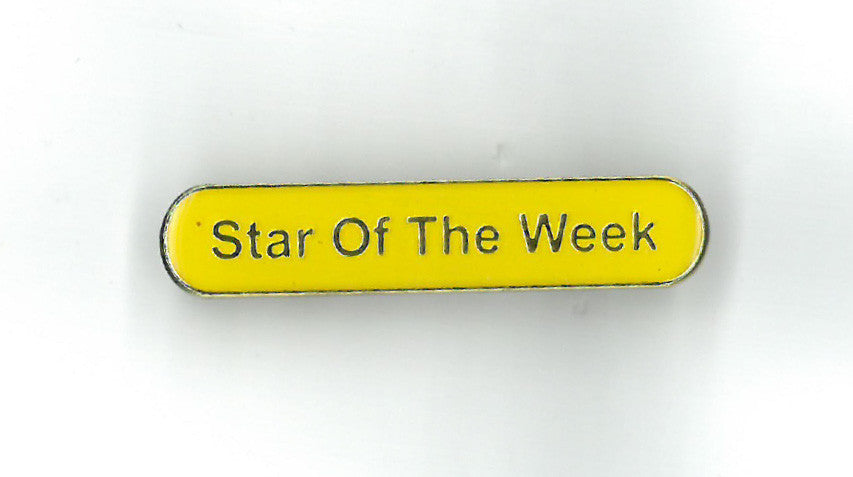 Enamel Bar Pin Badge - Star of the Week