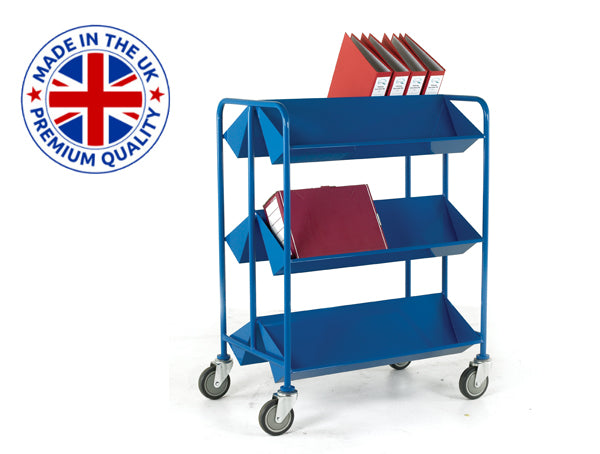 Trolley 3 Tier Angled Double Sided TT26