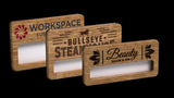 Reusable Name Badges - Wooden Faced Window