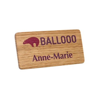 Wooden Name Badges