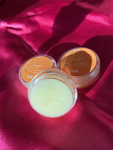 Orange All-Natural Lip balm