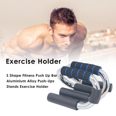 S Shape Fitness Push Up Bar - FitnessWanted