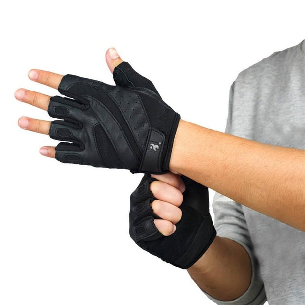 Genuine Leather Gym Gloves - FitnessWanted