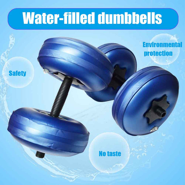 Adjustable Water Filled Dumbbell - FitnessWanted