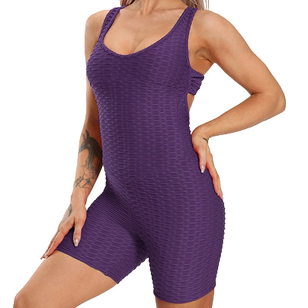 Women Gym Sporting Playsuit Cloth - FitnessWanted