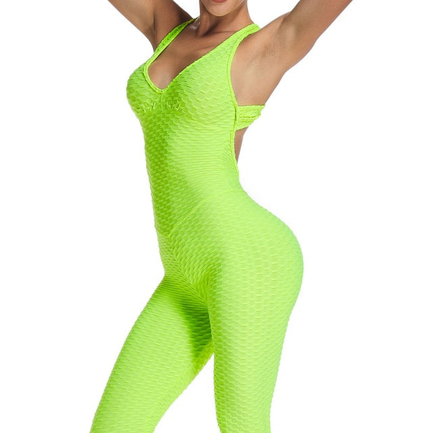 Jumpsuit Gym Workout Clothes - FitnessWanted