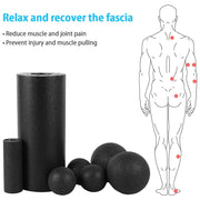 Massage Roller & Fitness Ball - FitnessWanted
