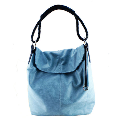 Sky Leather Hobo