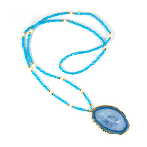 Amanda Marcuci Blue Agate Necklace