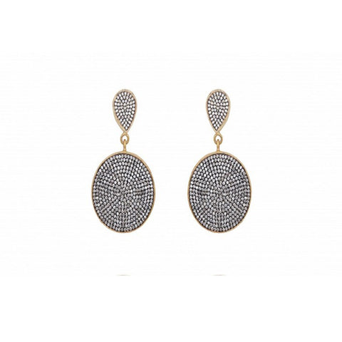 Pave Double Disc Earrings