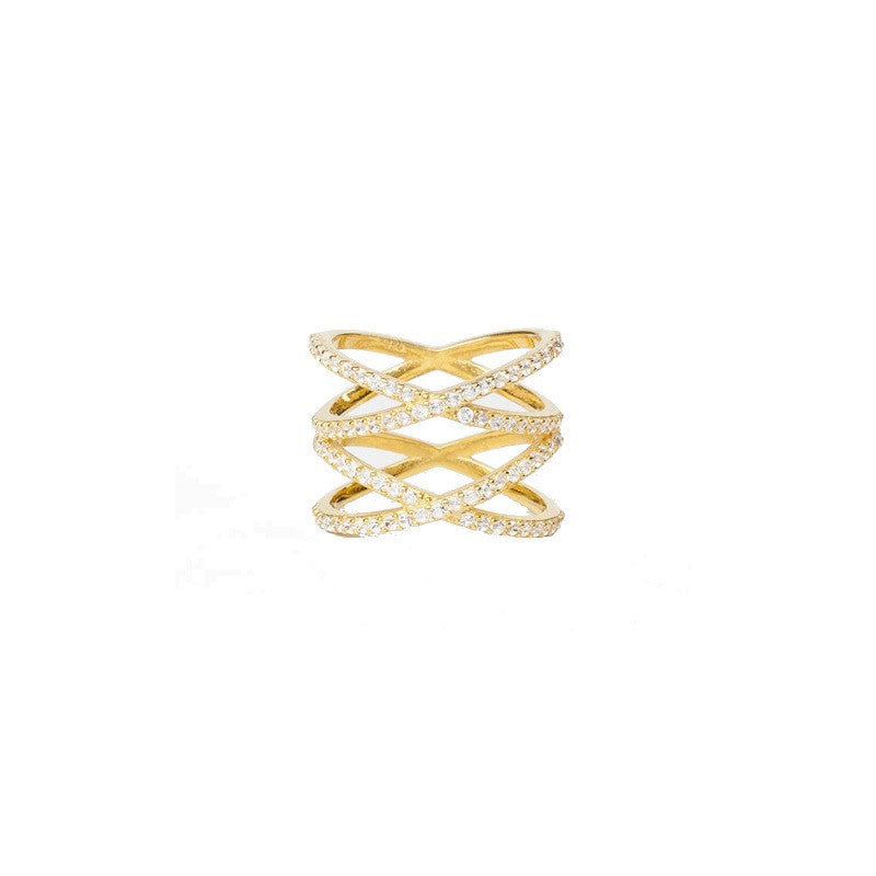 Alex Mika Stacked X Ring