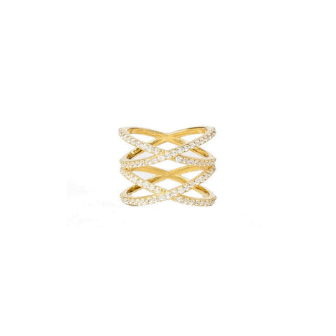 Alex Mika Double Criss Cross Ring