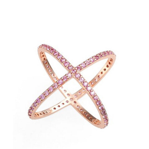 Alex Mika Pink Criss Cross Ring