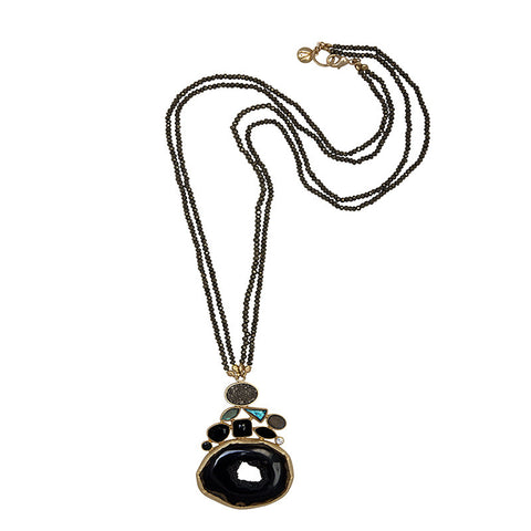 Atelier Mon Black Agate Necklace