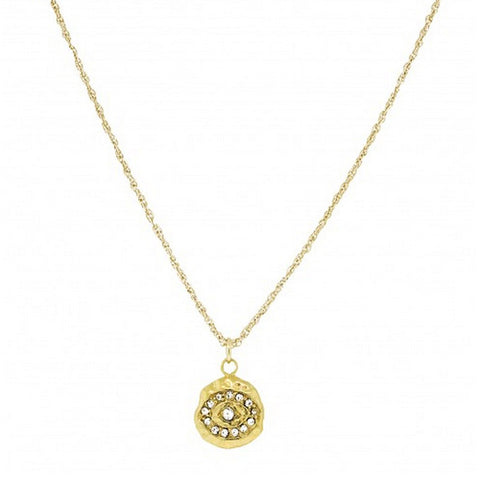 Evil Eye Mini Charm Necklace